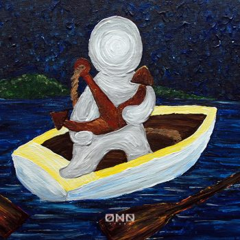 TITLE: Floating MEDIA: Acrylic on Canvas ARTIST: TTONN DATE: January, 2016 SIZE: 405mm (w) x 300mm (h)