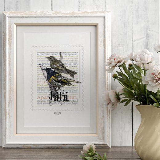 Hihi print display in frame