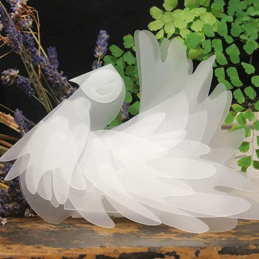 Fantail Dove LED table tea light